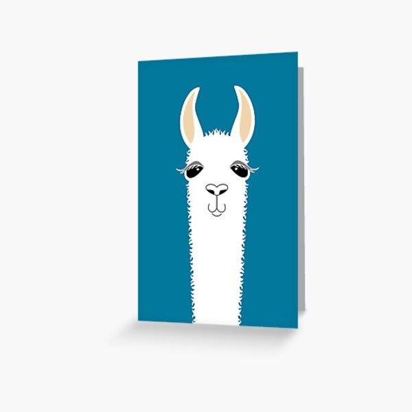 LLAMA PORTRAIT #10 Greeting Card