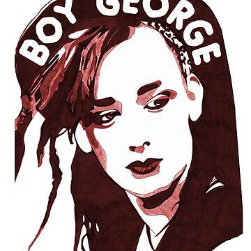 Boy George T-Shirt  by rdbbbl