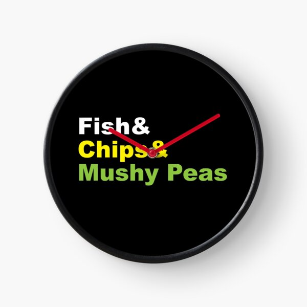 chips de poisson aux petits pois Horloge