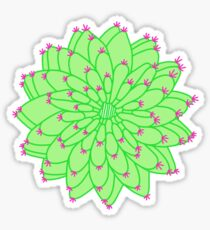 Green Cactus Sticker