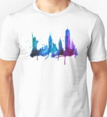 Watercolor New York Skyline Silhouette T-Shirt