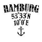 Hamburg Koordinaten Vintage Schwarz by theshirtshops