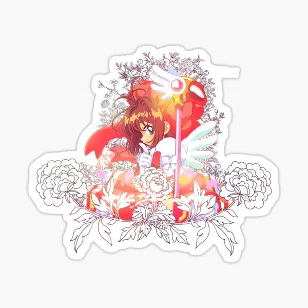 Captor de tarjeta Sakura Pegatina