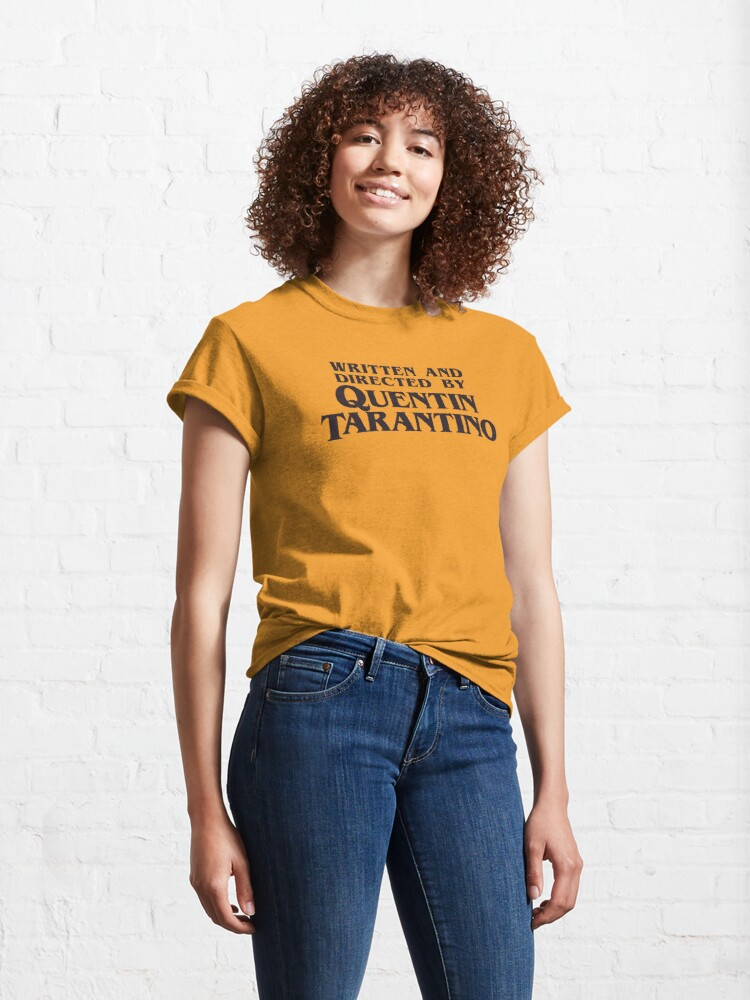 Alternate view of Written and Directed by Quentin Tarantino Classic T-Shirt