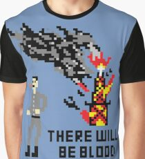 There Will Be Blood Pixel Graphic T-Shirt