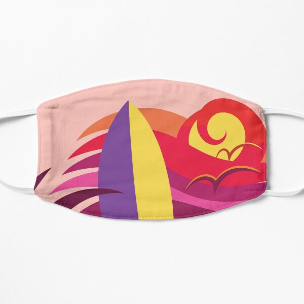 Venice beach California surf and skate paradise (red sunset colors) Mask