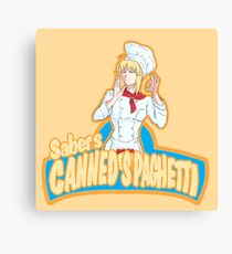 Saber's Canned Spaghetti  Canvas Print