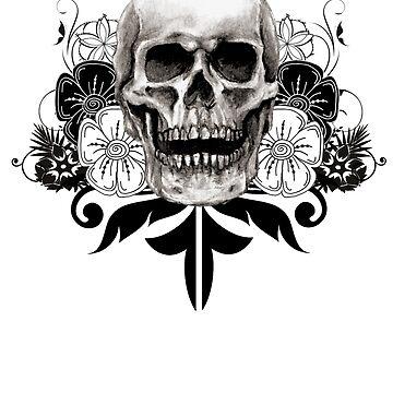 Flower Skull by Bradsite