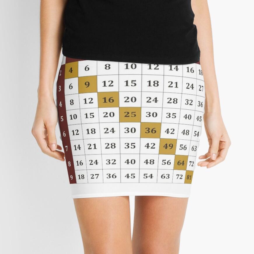 Multiplication table Mini Skirt