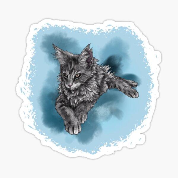 Maine Coon Kitten Sticker