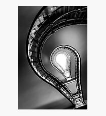 Cubist staircase black & white Photographic Print