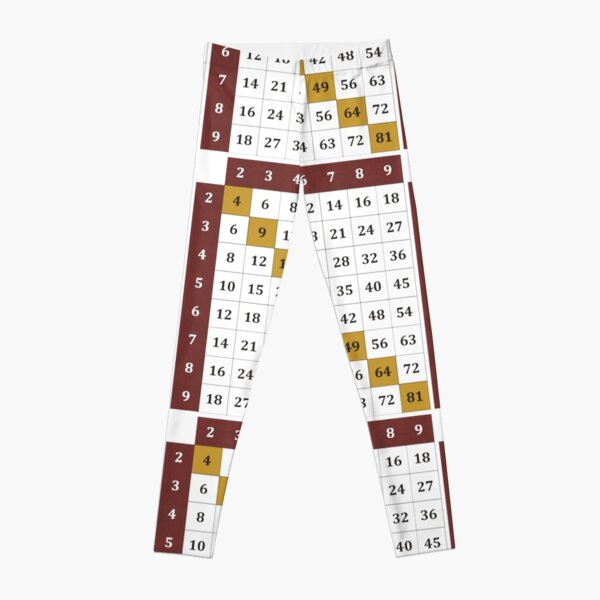Multiplication table Leggings