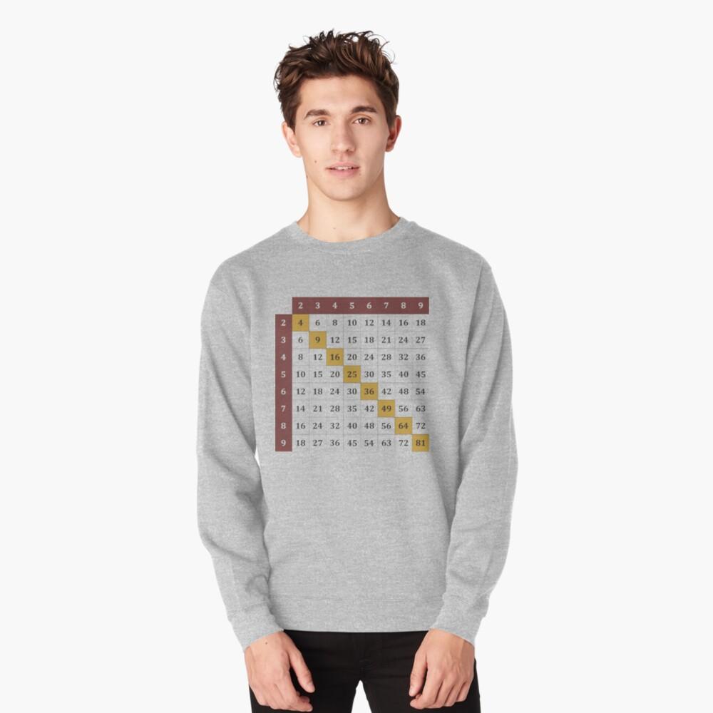 Multiplication table Pullover Sweatshirt