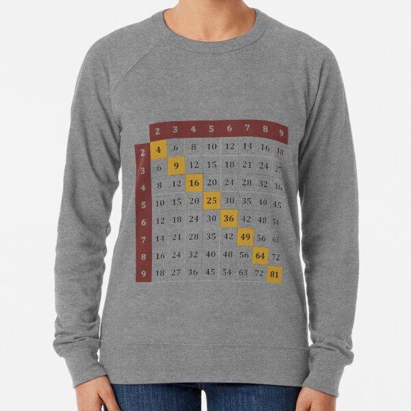 Multiplication table Lightweight Sweatshirt