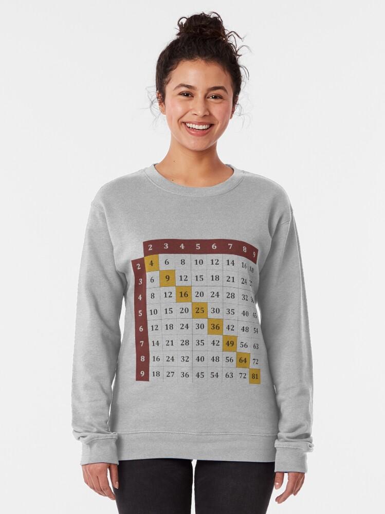Alternate view of Multiplication table Pullover Sweatshirt