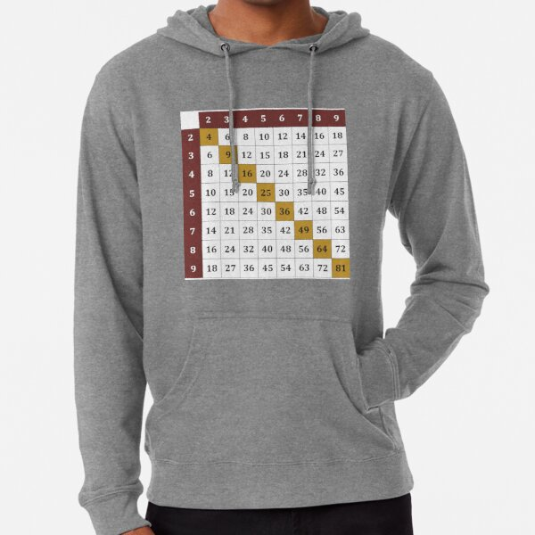 Multiplication table Lightweight Hoodie