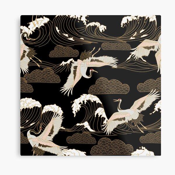 Antique Japanese Woodblock Print Metal Print