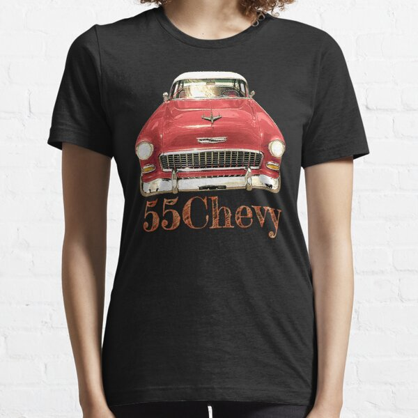 Red 55 Chevy Classic Car Design Essential T-Shirt