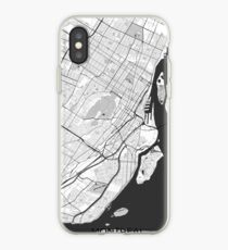 Montreal Map Gray iPhone Case