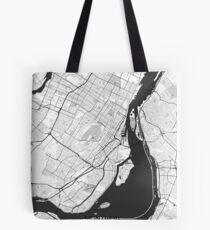 Montreal Map Gray Tote Bag