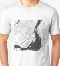 Montreal Map Gray Unisex T-Shirt
