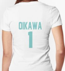 Haikyuu!! Oikawa Jersey Number 1 (Aoba) Women's Fitted V-Neck T-Shirt