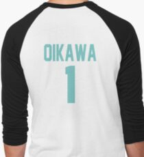 Haikyuu!! Oikawa Jersey Number 1 (Aoba) Men's Baseball ¾ T-Shirt