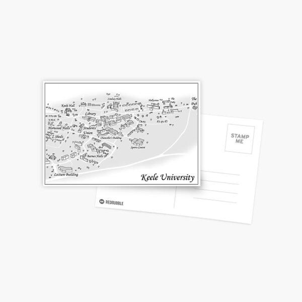 NQO Keele Uni Map Postcard