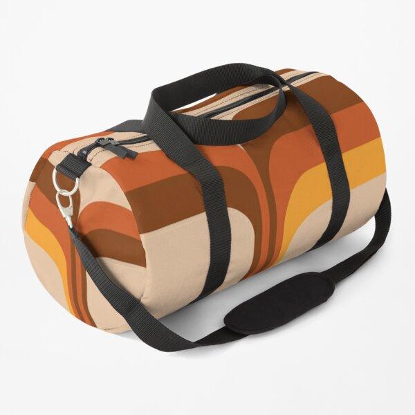 Retro 70s Supergraphic Stripes Duffle Bag