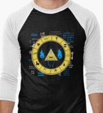 Gravity Falls - Bill Cipher Zodiac Men's Baseball ¾ T-Shirt