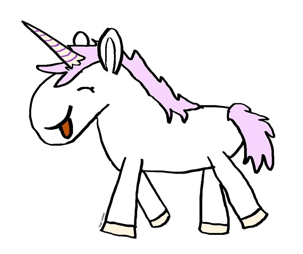 Slightly daft unicorn by ErrantScience