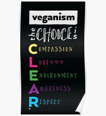 Veganism - The Choice is Clear Poster