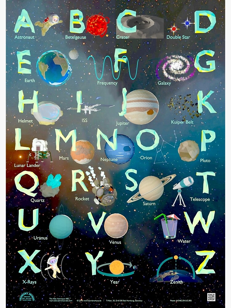 The Alex Astronaut ABC - Alphabet Poster | Poster