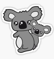 sweet little baby koala cute mamapapa child holds family itself Sticker
