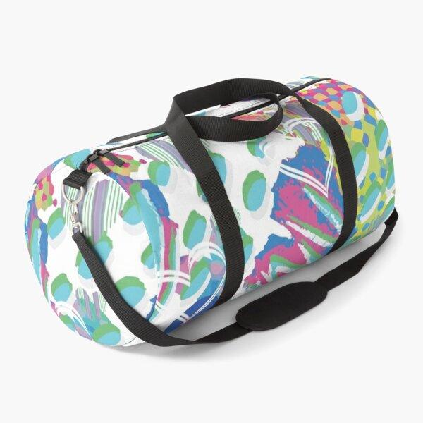 Heartsquiggles Pattern Duffle Bag