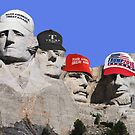 Mt. Rushmore Presidents For Trump by EyeMagined