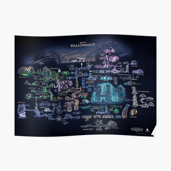Hollow Knight Map Poster