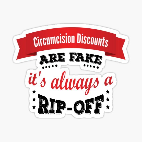 Funny Circumcision - Circumcised Foreskin Jokes and Quotes Sticker