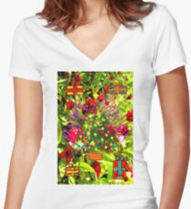 HAPPY CHRISTMAS 25 Women's Fitted V-Neck T-Shirt