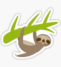 Winking sloth an a bench Sticker