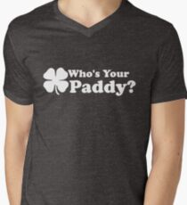 Who's Your Paddy Men's V-Neck T-Shirt