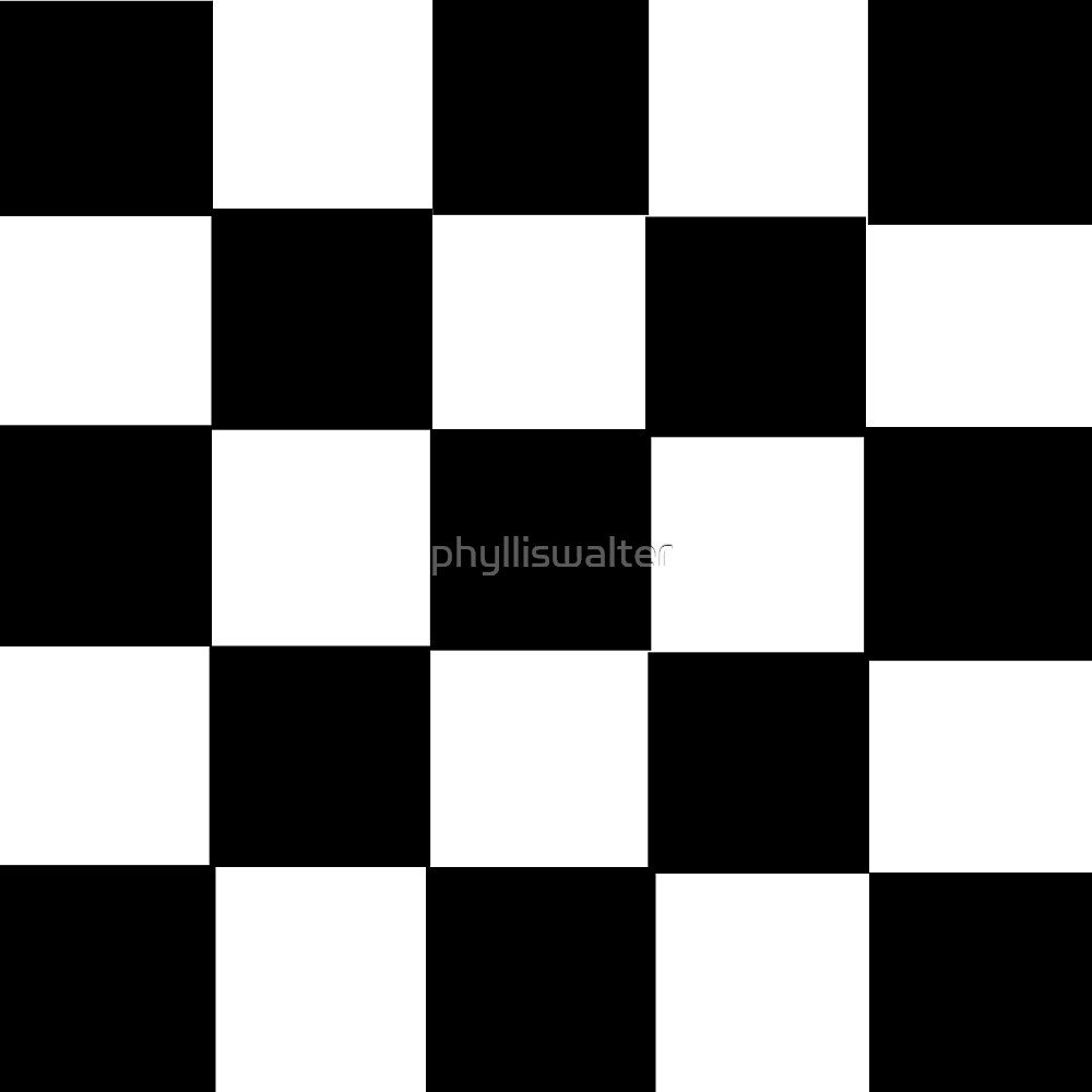 Black and White Checker Board by phylliswalter