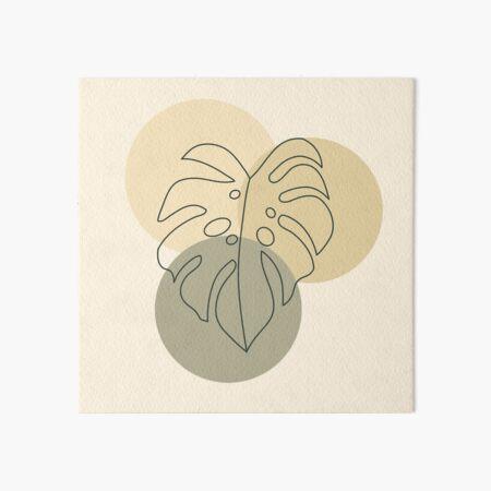 Organic Leaf - Minimal Abstract Art Board Print