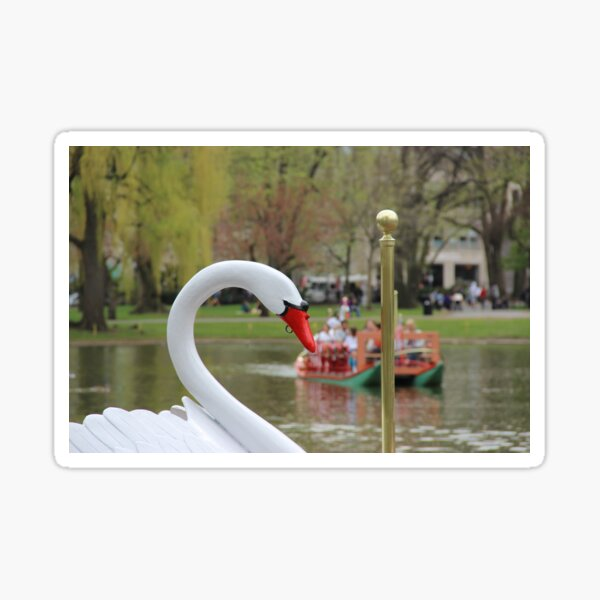 Boston Public Garden Swan Boats Sticker