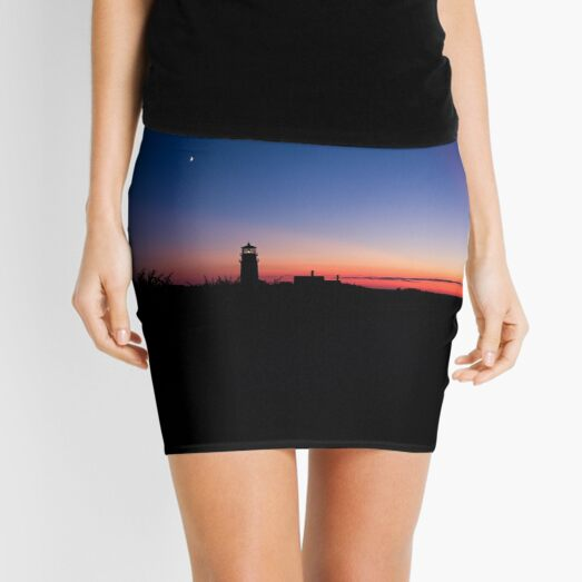 Sunset at the Highland Lighthouse Mini Skirt