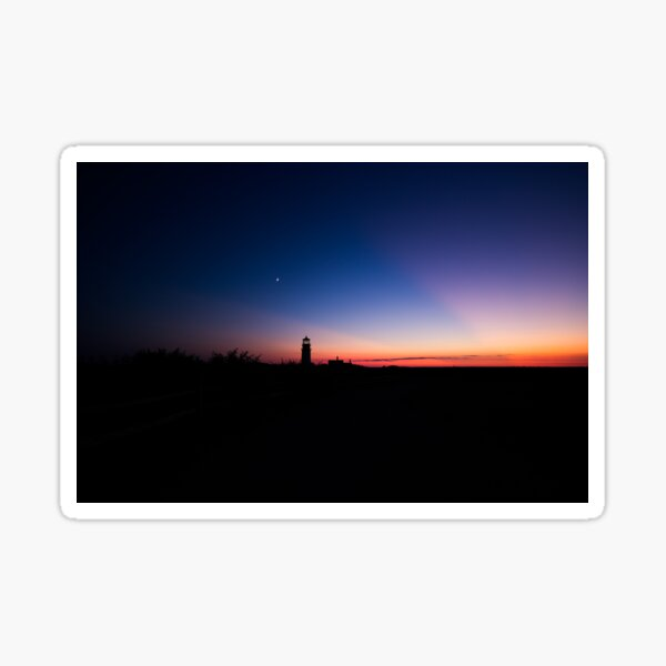 Sunset at the Highland Lighthouse Sticker
