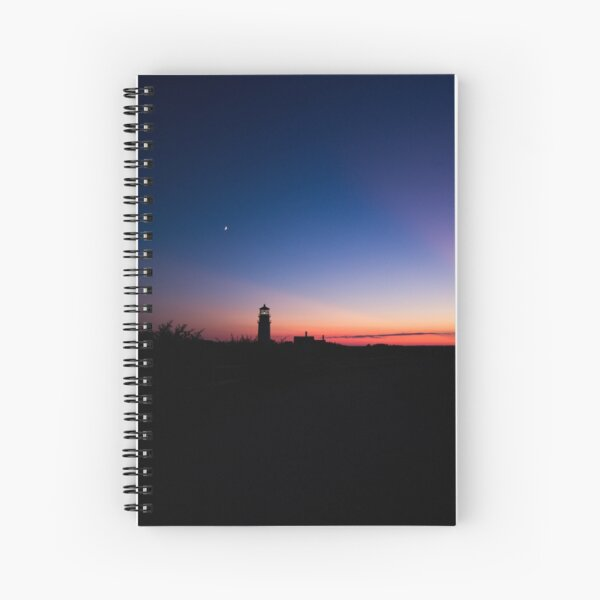Sunset at the Highland Lighthouse Spiral Notebook