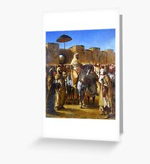 Eugène Delacroix - The Sultan of Morocco and his Entourage Greeting Card