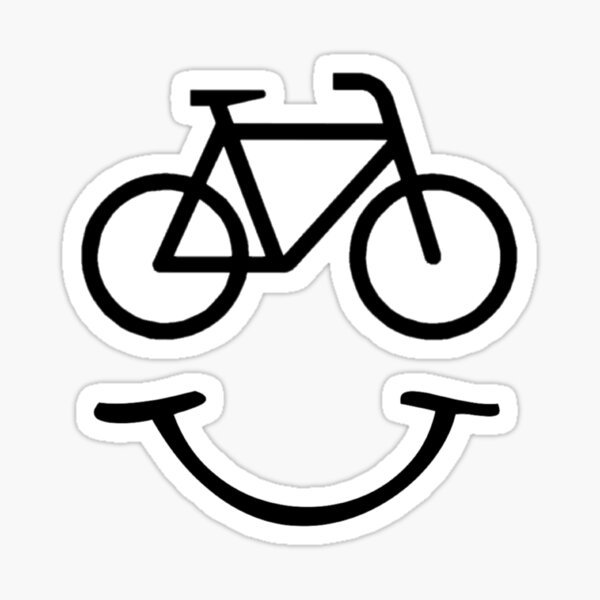 Smiling Bicycle Sticker