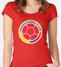 Federacion Colombiana de futebol - colombian soccer Women's Fitted Scoop T-Shirt